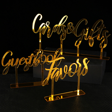Cards and Gifts Guestbook Favors Sign Freestanding Calligraphy Personalized Wedding decoration Table Custom Acrylic Party Decor free shipping wedding demark pattern decorated personalized guestbook gb042