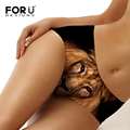 FORUDESIGNS Women Seamless Briefs Female Underwear Thong Spandex Lingerie Animal Lion Tiger Print Crotch Underwear Panties S-XL