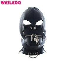 С замками секс маска раб bdsm секс-игрушки для семейных пар маска секс игрушки бдсм фетиш bondage mask эротические игрушки для взрослых игры