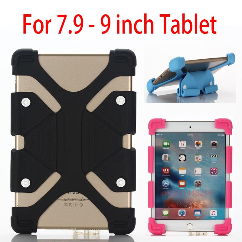 7.9-9 inch Tablet Universal Extendable Cover Case For Samsung Galaxy Tab 2 3 4 A/E/S 8.0 8.4 T330 T310 T350 T385 Silicone Case crocodile pattern luxury pu leather case for samsung galaxy tab 4 8 0 t330 flip stand cover for samsung tab 4 8 0 t330 sm t330