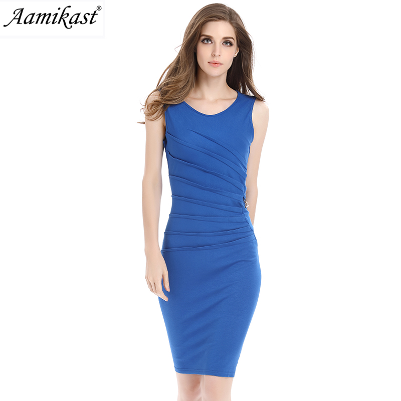 HongKong Amika fashion clothes wholesale Aamikast Womens Celebrity Elegant Vintage Ruched Pinup Wear To Work Office Business Casual Party Fitted Bodycon Pencil Dress 660