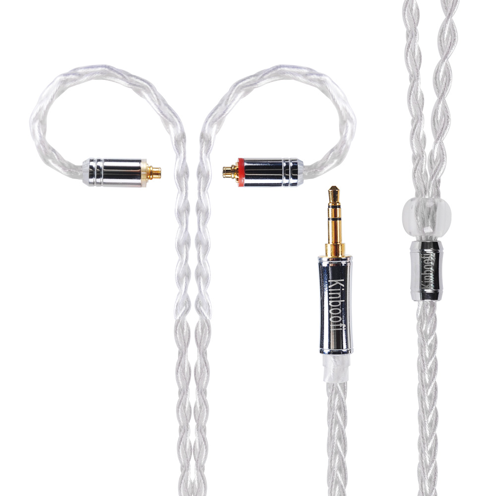 8 Shares Silver Plated MMCX Cable for Shure SE215 SE535