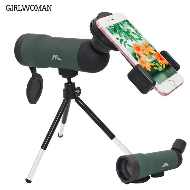 Girlwoman 20x50 Ống Kính Zoom cho Điện Thoại Thông Minh Ống Kính Telescopio Celular Điện Thoại Di Động Kính Thiên Văn Ống Kính Máy Ảnh đối với Iphone x 8 cộng với Huawei