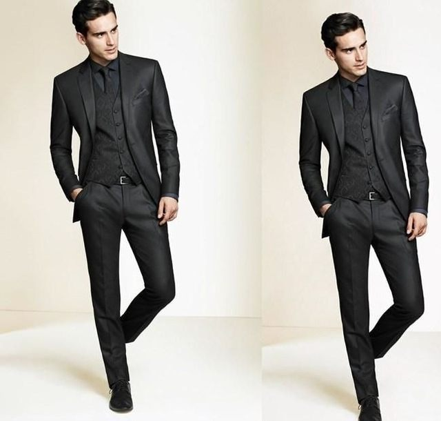 Online Shop The latest chic black suit, men\'s suit / man, two suits ...