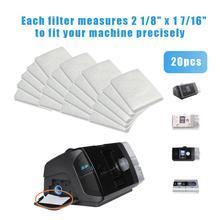 Универсальные сменные фильтры одноразовый хлопковый фильтр для ResMed S9/S10 медицинский вентилятор CPAP Хранитель сна 20шт