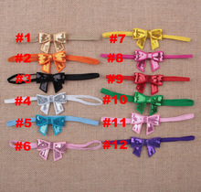 Yundfly 12pack Shiny Sequin Bow Newborn Headband Hair Kids Headwear Children Photography Props Accessories