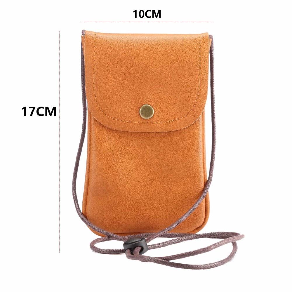 Universal Leather Cell Phone Bag Shoulder  1