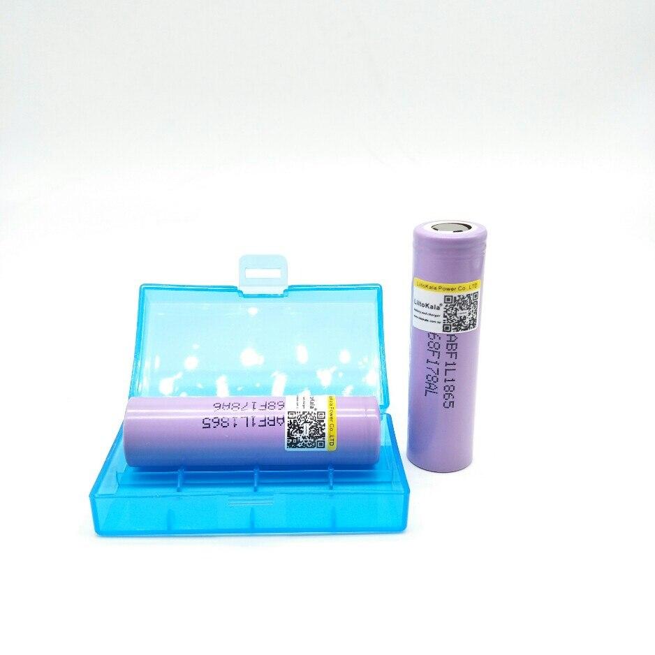 2 unids liitokala For lii - F1L originales 3.6 v 18650 inr18650 you 3350 mah 4.2 v corto recargable bateria para lg