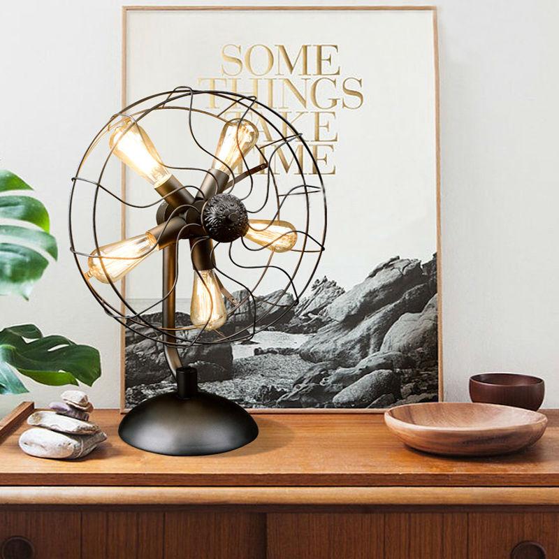 Iron Fan Table Lamps 11