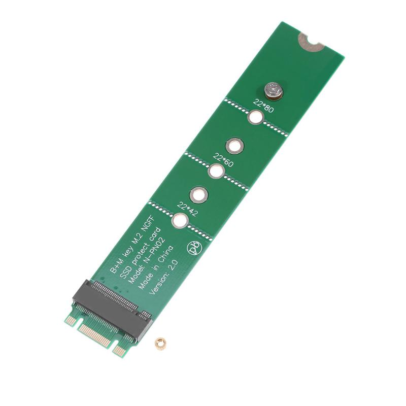 M.2 NGFF B Key to M.2 NGFF B+M Key M.2 Converter Adapter Testing Protect Card for SATA M2 2242 2260 2280 SSD m 2 ngff ssd to 18 pin extension adapter card for asus ux21 ux31 zenbook