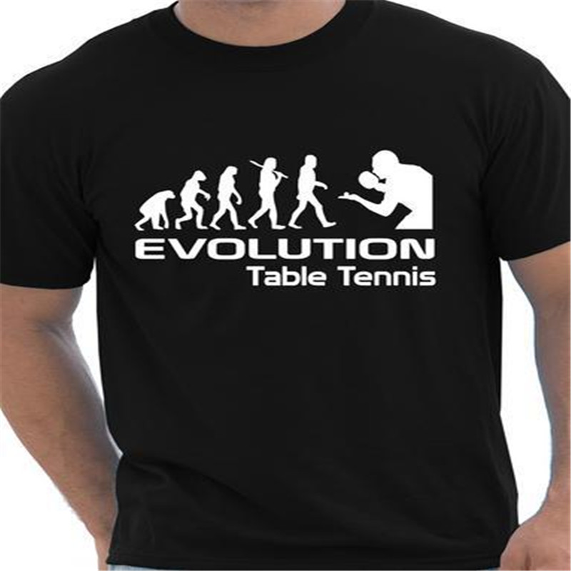 Evolution Of Table Tee Shirt Homme Funny Mens masa tenisi giyim T ...