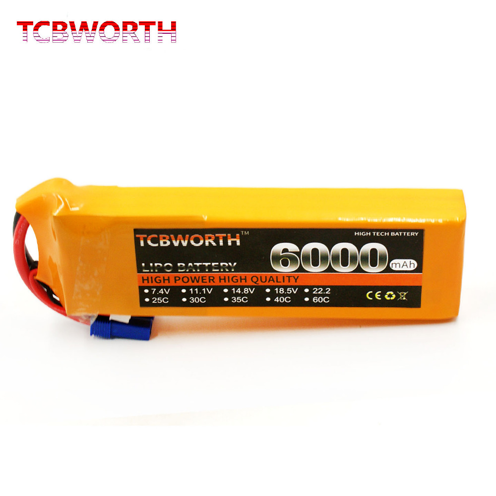 TCBWORTH 2S 7.4V 6000mAh 60C RC Helicopter Lipo battery For RC Airplane Quadrotor Car Boat AKKU tcbworth 2s 7 4v 5000mah 25c rc lipo battery for rc airplane quadrotor