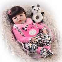Bebes кукла реборн новорожденный девочка жива полный Силиконовый reborn baby doll toys 23