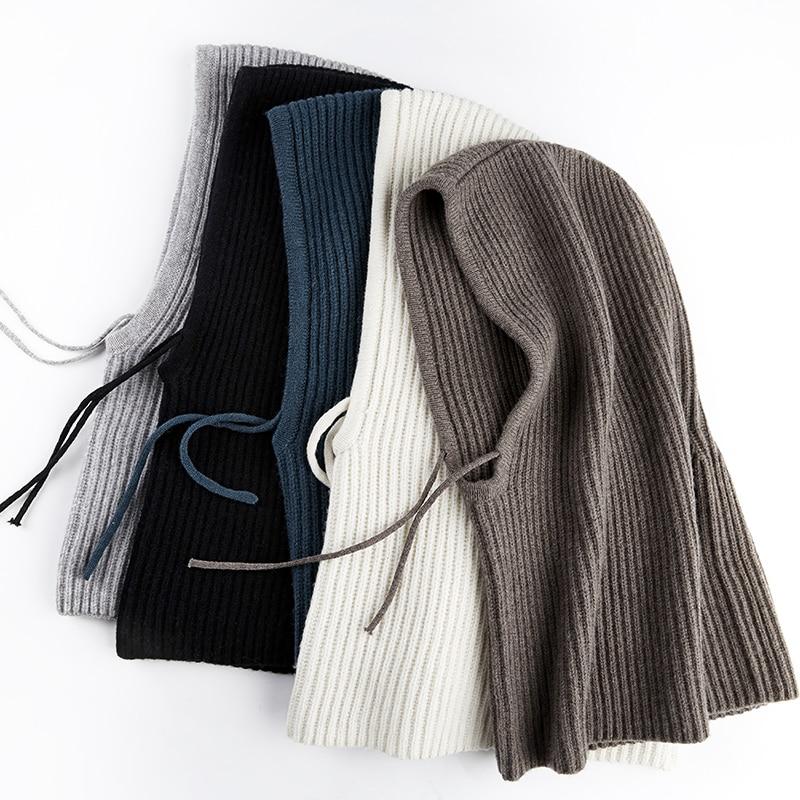 Xthree Winter Wool Knitted Scarf Hat Set Beanie Women Scarf Skullies Beanies Hats For Women Men Caps Gorras Bonnet Mask 2