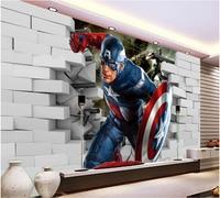 Custom 3D Murals 3D Cartoon Movie Hero Papel De Parede Living Room Sofa TV Wall Children