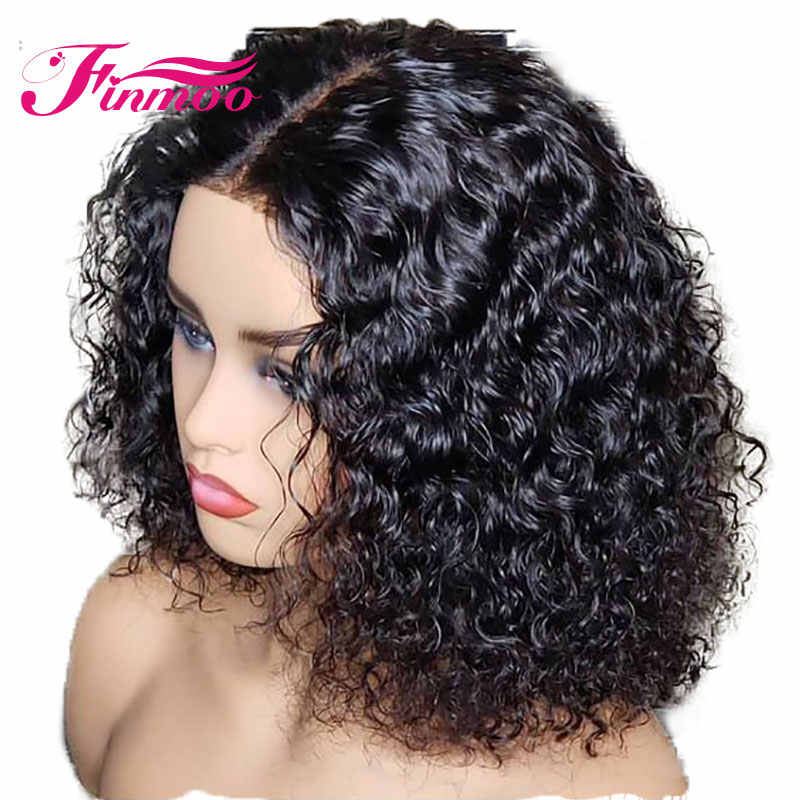 Lace Front Human Hair Short Curly Wig 8-16 Inch 130% Density Remy Hair For Black Women With Baby Hair Pre Plucked Brazilian Hair