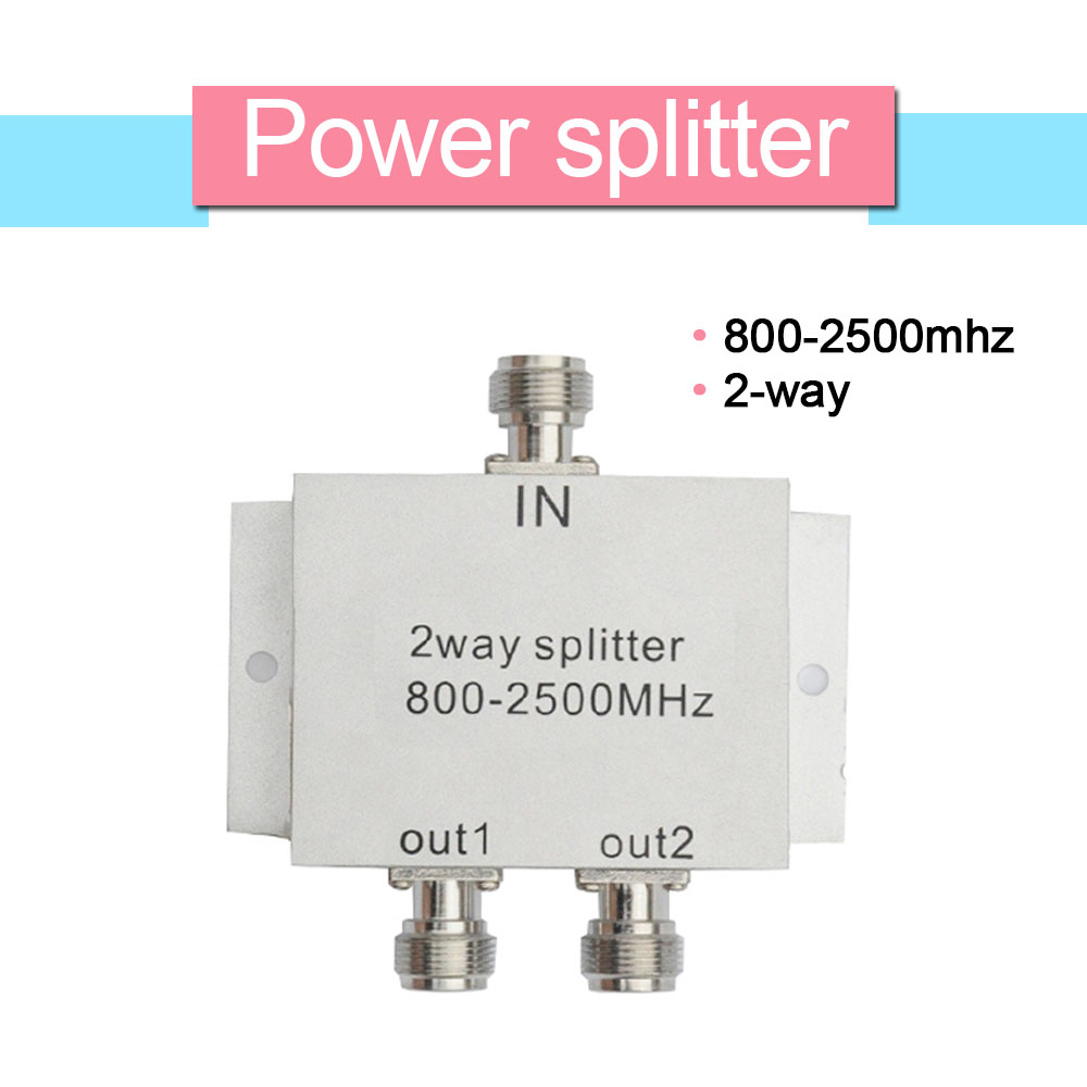 800mhz-2500mhz  2 Way Power Splitter Divider Of Cellular Signal Amplifier Compatible For CDMA GSM DCS WCDMA