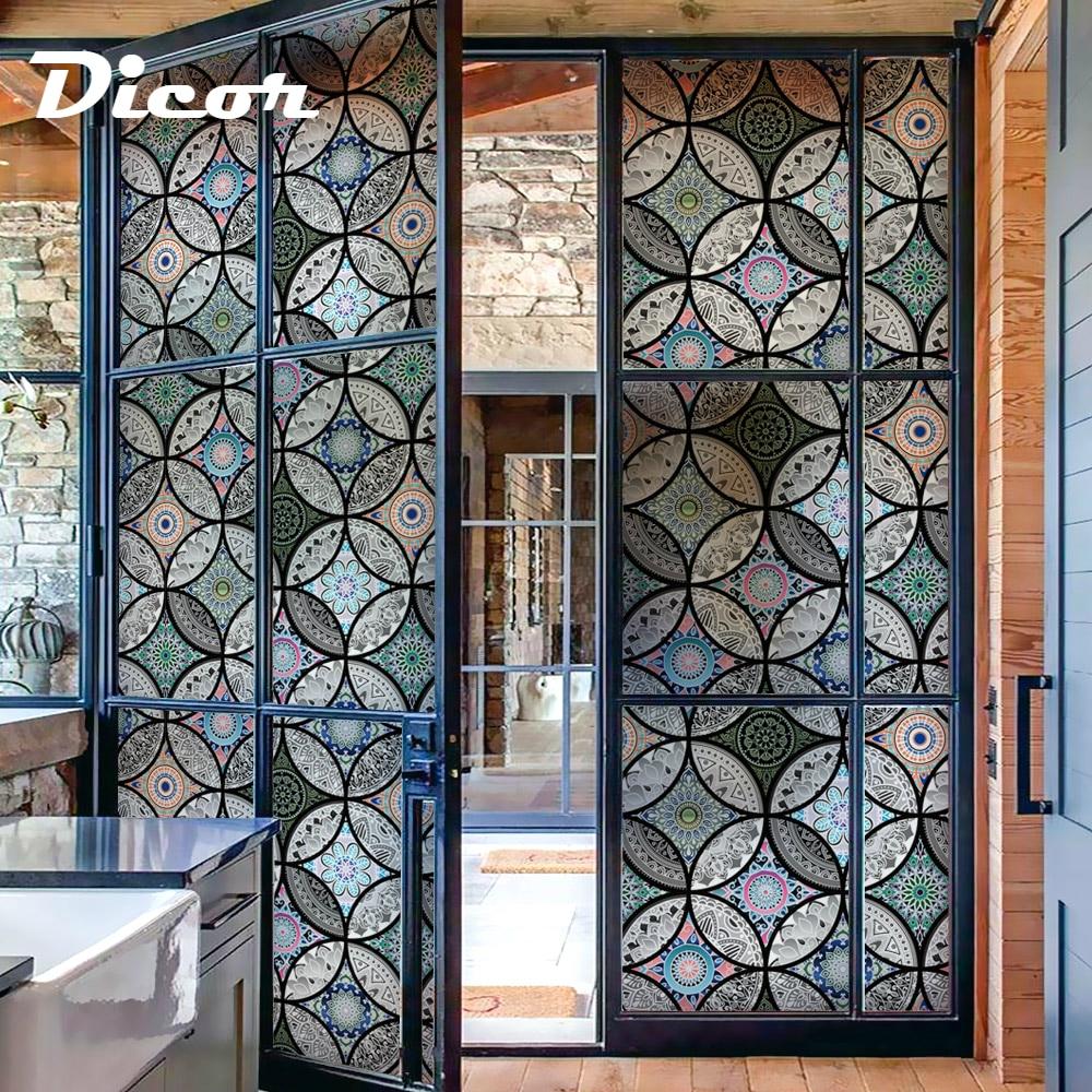 Lepotno steklo Okno Zasebnost Film Brez lepila Dekoracija Anti Uv - Dekor za dom