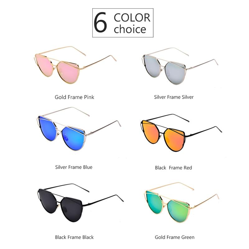 0bfec808529 LOPERT Cat Eye Polarized Sunglasses Women Classic Brand Designer Glasses  Twin Beams Rose Gold Frame Mirror Sun Glasses UV400-in Sunglasses from  Apparel ...