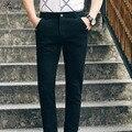 2016 Новое Прибытие Человек Моды Бизнес Брюки 2 Цвет Мужские брюки Повседневная Известная Марка Негабаритных Мужские Брюки Марка Одежды Горячие продажа