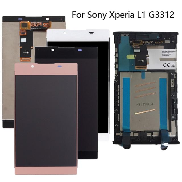"""100% ソニー vgn Xperia L1 G3312 5.5 """"LCD デジタルコンバーターコンポーネントソニーの Xperia L1 ディスプレイの交換キット + ツール"""