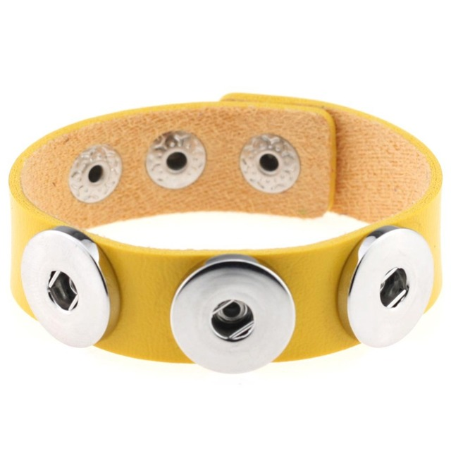 1pc many colors import pu leather snaps bracelet for 18/20MM  buttons fit snaps