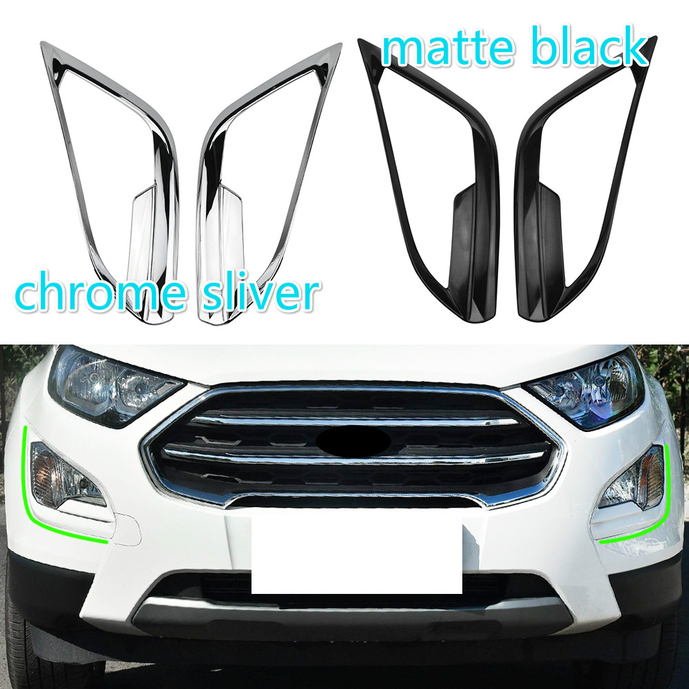 For Ford Ecosport 2018 Accessories 2 Colors ABS 2Pcs Set Car Front Fog Lamps Cover Fog