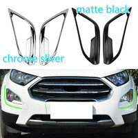 For Ford Ecosport 2018 Accessories 2 Colors ABS 2Pcs/Set Car Front Fog Lamps Cover Fog Light Trim Sticker