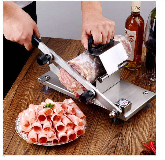 mini Stainless mutton slicer convenient manual mutton roll