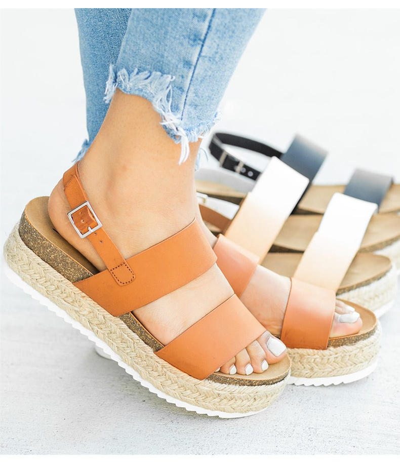WENYUJH 2019 With Wedges Shoes For Women Chunky Heels