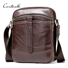 CONTACT'S 2020 casual men's messenger bag genuine leather sm