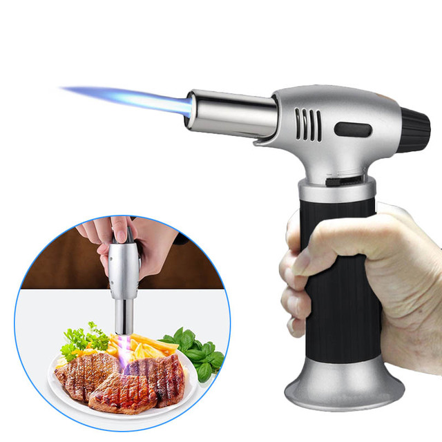 2018 refillable gas butane blow torch micro jet lighter culinary solder cooking baking chef tool iron - Kitchen Blowtorch