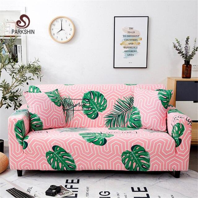 Parkshin Cubierta del sofá de LICRA elástica de hoja nórdica, envolvente, para sala de estar