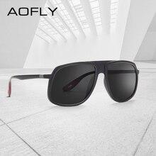 AOFLY Marca Diseño clásico gafas de sol hombres conducción hombre gafas de sol para hombres, gafas de templo único cuadrado gafas UV400 AF8110