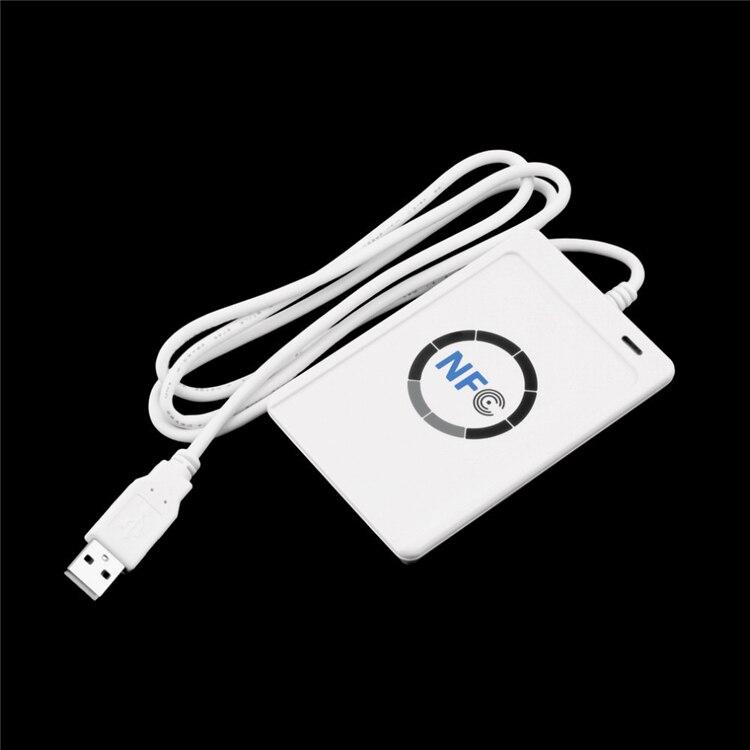 ACR122U A9 USB NFC lecteur de carte écrivain pour tous les 4 types NFC (ISO/IEC18092) + 5 pièces UID modifiable M1 S50 NFC carte + SDK logiciel