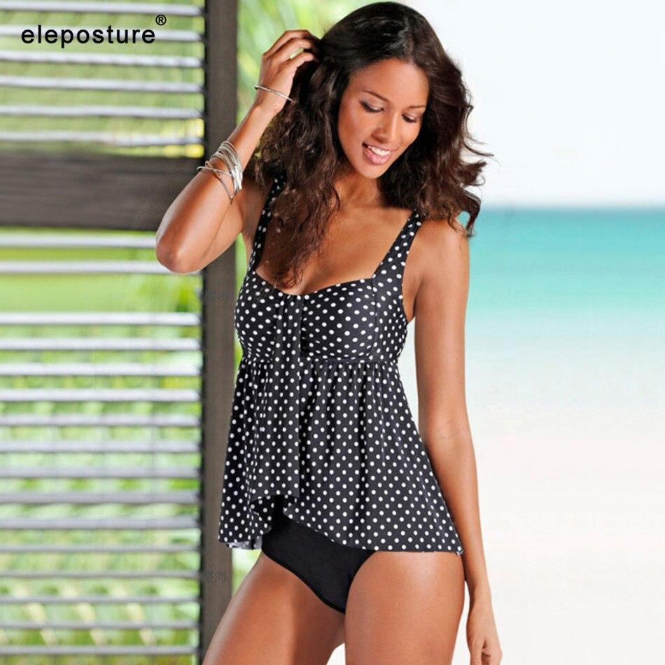2019 Plus Size Swimwear Women Tankini Swimsuits High Waist Swimsuit Vintage Retro ...