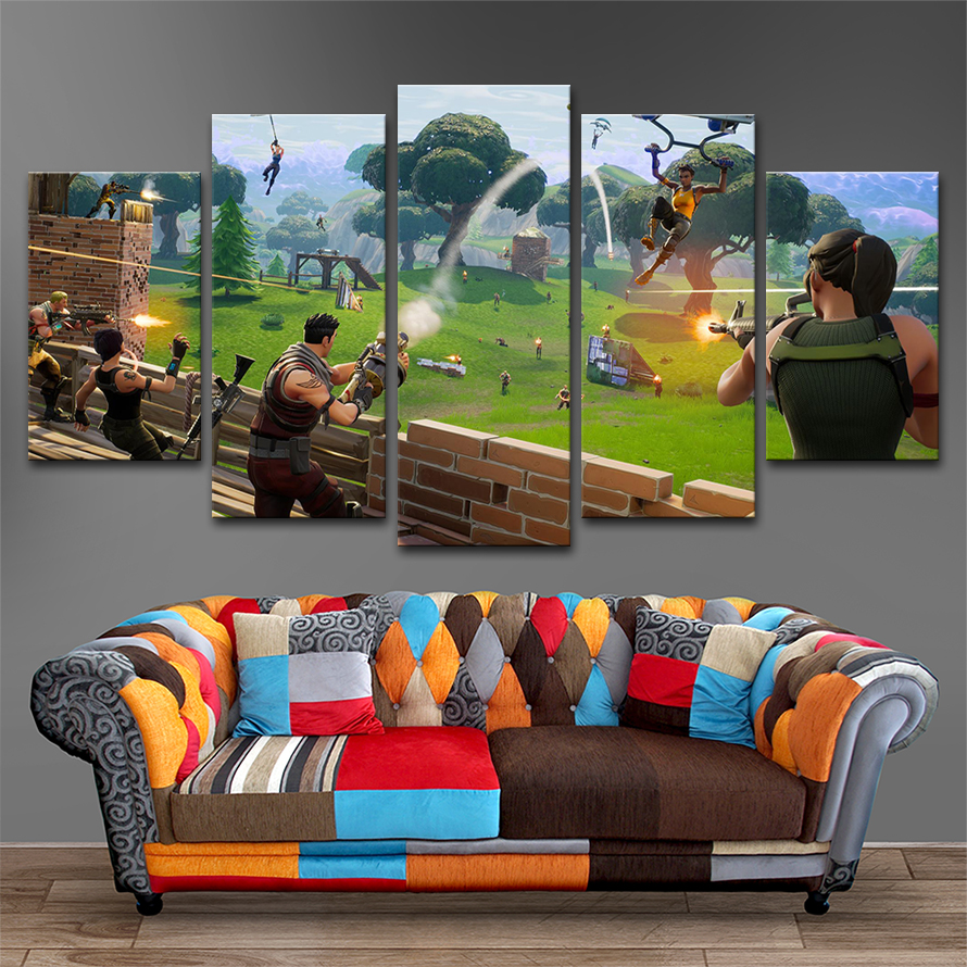 Fortnite Wall Art Canvas Paintings For Living Room