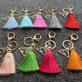 Harry Potter and The Deathly Hallows Keychain Luna Death Triangle Pendant Key Holder Silk Tassel Pendant For Women Men Bag