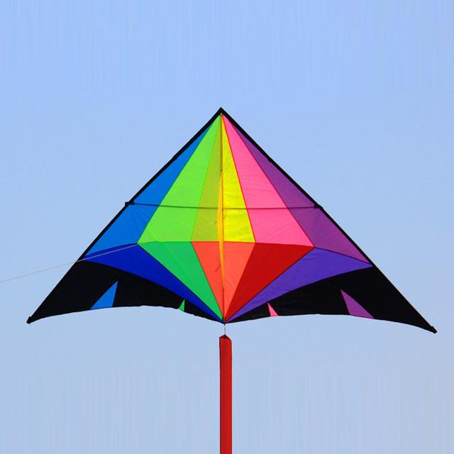 Venda quente Diamante Pipa Pipa Brinquedos Ao Ar Livre Personalidade Resina Hastes Volant Íris Kites Pipas Voadores Vela Surf Esportes de Praia