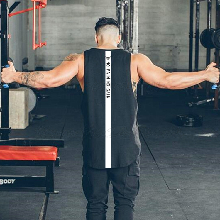 Brand gyms clothing mens fitness singlet cotton bodybuilding stringer tank top men sleeveless shirt tanktops muscle vest male