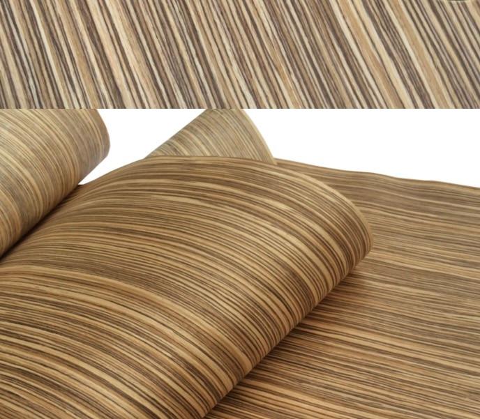 1Piece L:2.5Meters  Width:55cm Thickness:0.25mm Technology Zebra Stripe Wood Veneer (back Non Woven Fabric)
