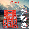21pcs Carbon Steel Car Disc Brake Caliper Rewind Back Brake Piston Compressor Tool Kit Box For