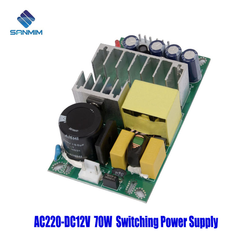 SANMIN AC220V-DC12V 6A 70W <font><b>Power</b></font> <font><b>supply</b></font> Isolated switch <font><b>power</b></font> <font><b>supply</b></font> module 220 to <font><b>12v</b></font> bare <font><b>board</b></font> GPT70A12V image