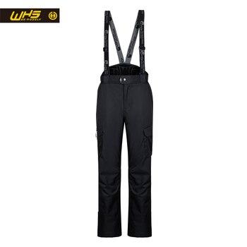 WHS new Men ski trousers brands Outdoor Warm Snowboard pants coat male waterproof snow trouser Man sport camping pant winter