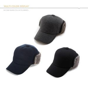 Image 5 - FANCET גברים של בייסבול כובע חורף חם Earflap אבא כובעי צמר פו פרווה רוסיה כובעי Casquette Gorro מצויד Earmuff הגנה 67134