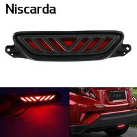 Niscarda For Toyota C HR 2016 2017 2018 LED Third 3rd Brake Light Rear Bumper Red Car Driving DRL Fog Trim Molding Tail Lamp
