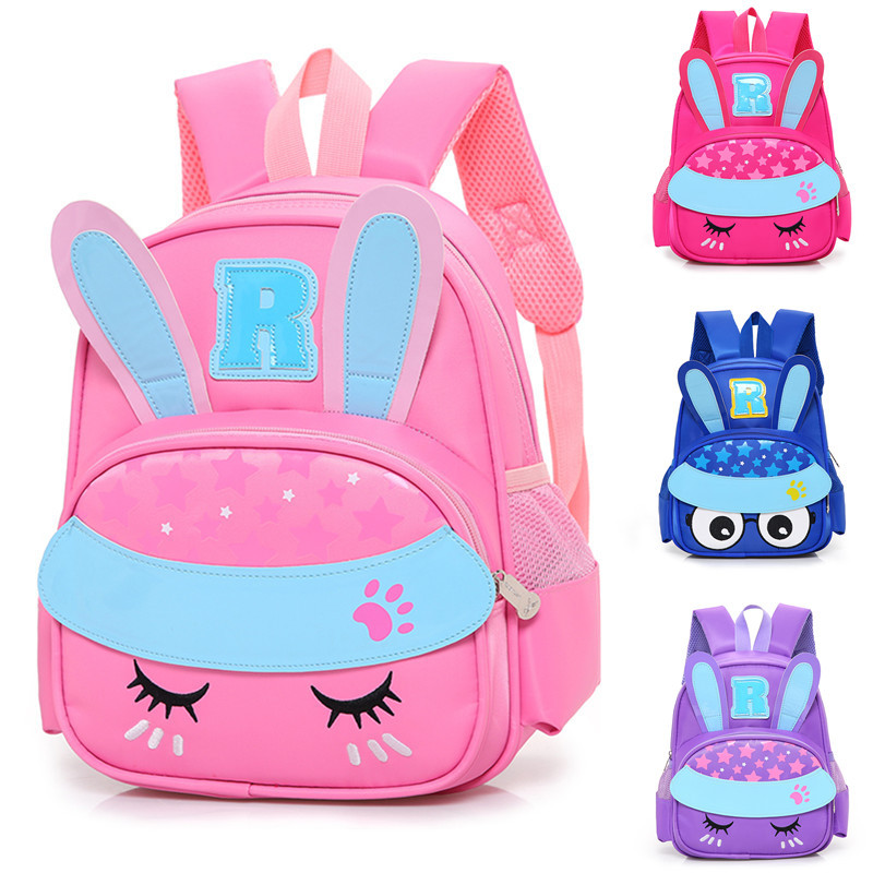 3D Cartoon rabbit backpack for girl smochilas  kids escolares infantis children school bags lovely School Satchel Baby knapsack(China)