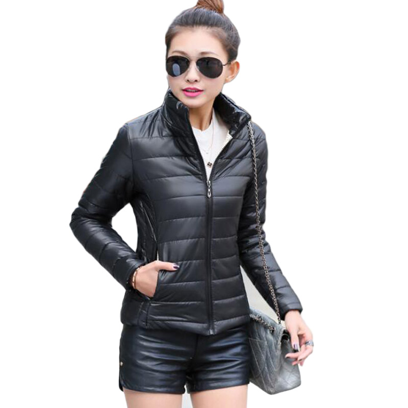 LZMZA Women   jacket   winter short coat woman Autumn stand collar cotton padded   jacket   Parkas Female Casual   basic     jackets   coats