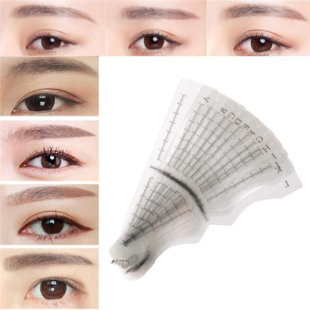Senior Different Eyebrow Stencil Models Eyebrow Shaping Makeup ...