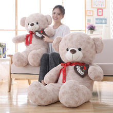 цена на Teddy Bear Boy Plush Toy Sweater Bear Doll Big Love Pillow Bear Birthday Gift